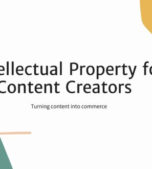 IP for creators webinar title slide